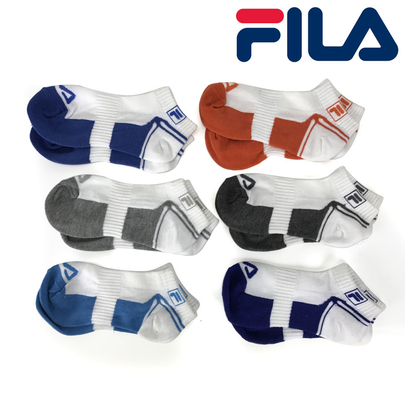 12 Pairs of Fila Shock Dry Kids Ankle Socks SHIPS FREE