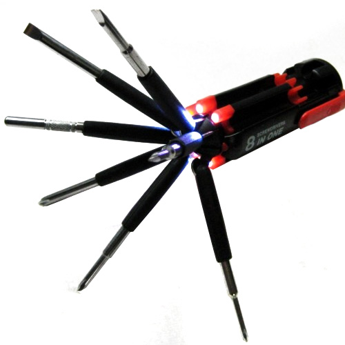 8 in 1 Multi-Screwdriver With Built In Flashlight