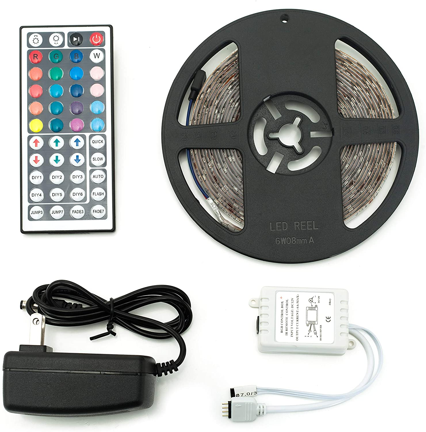 16 Feet Multi-Color LED Light Strip with Remote Control