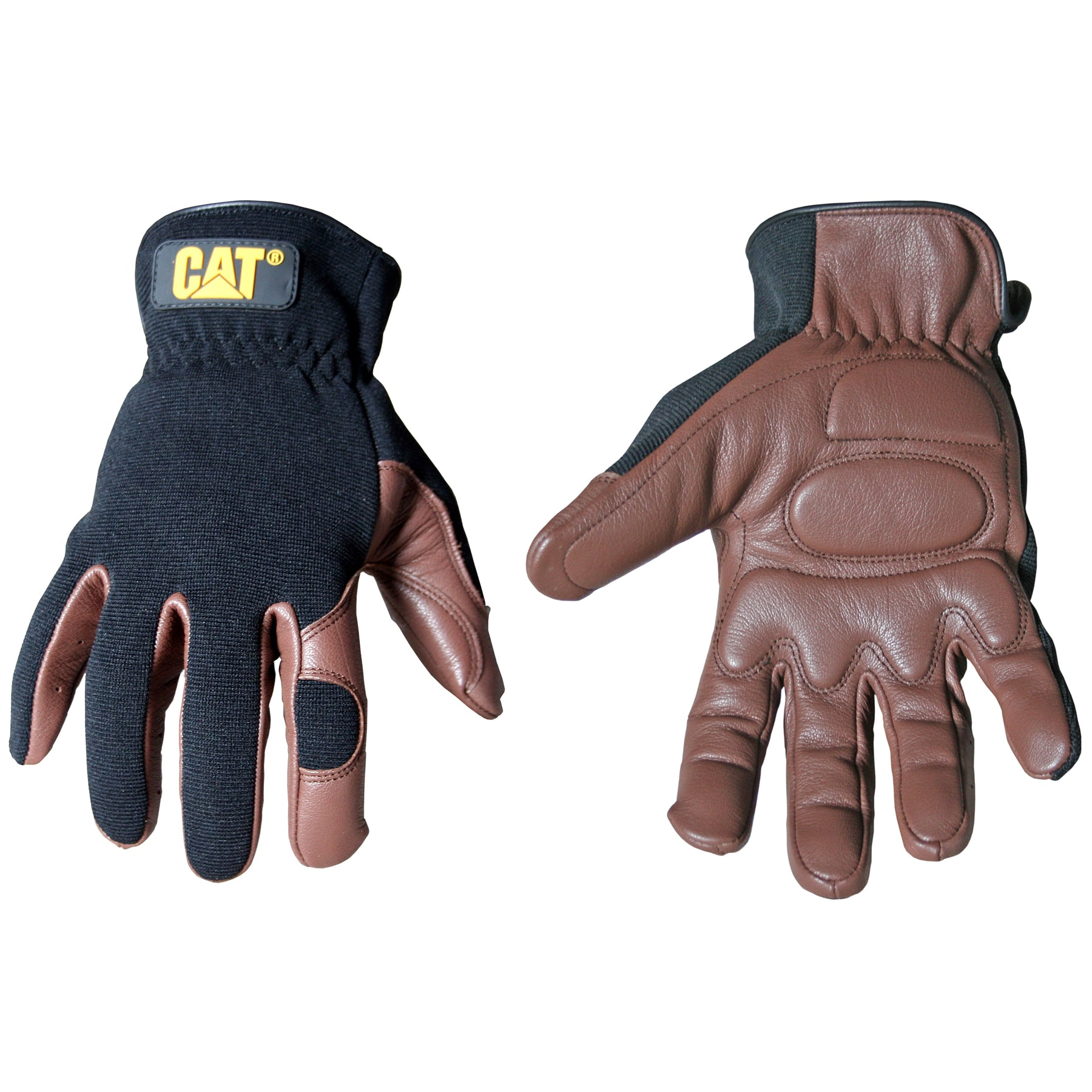 CAT Gel Padded Palm Goat Leather Work Gloves