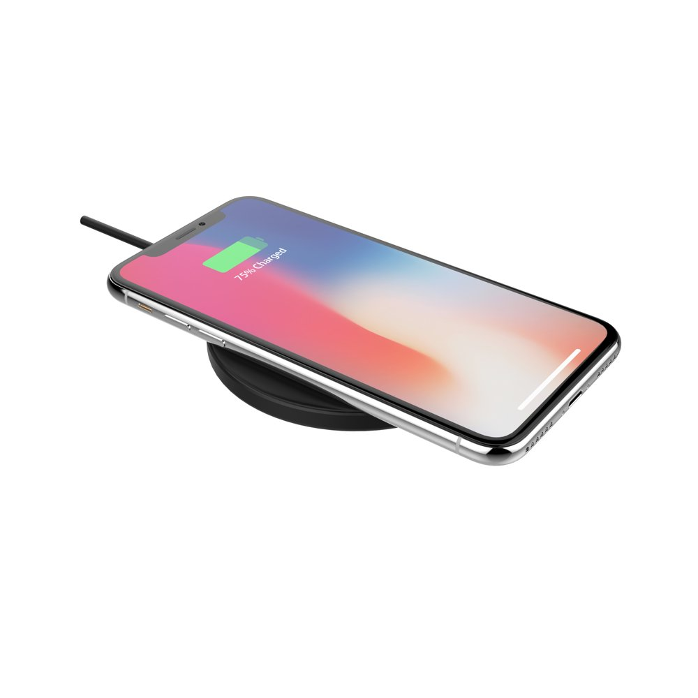 5W Wireless Charging Pad with Retractable Cable