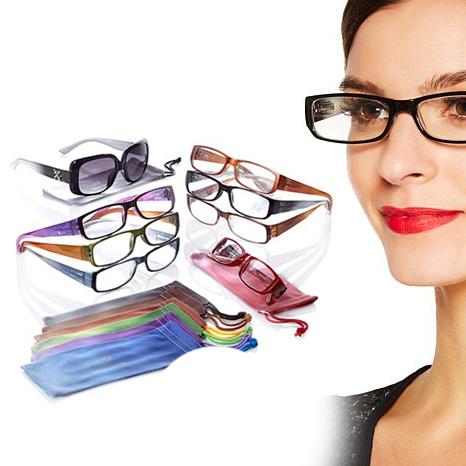 Set Of 7 Joy Mangano Super Chic Ombre Readers Mega Set Plus a FREE Set of Bifocal Sunglasses (8 Total Pairs!) - SHIPS FREE!