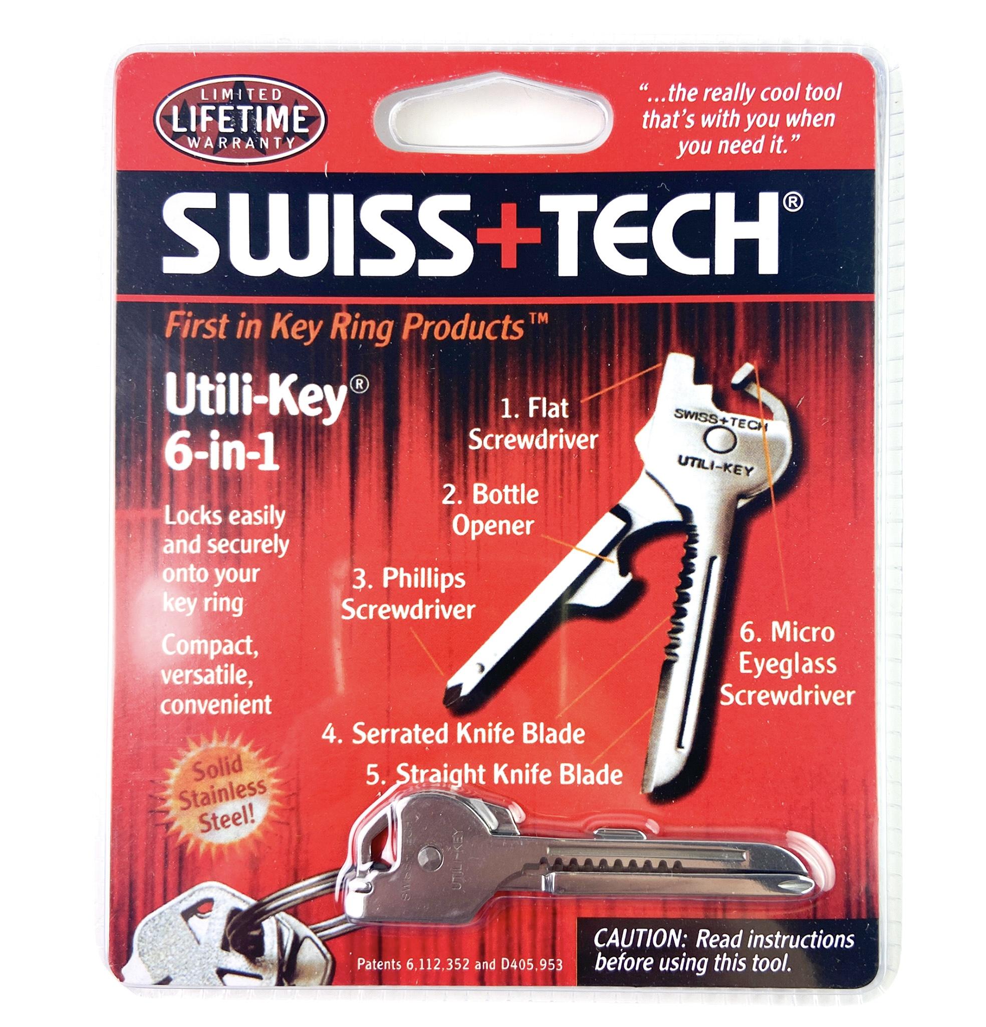 Swiss+Tech 6-In-1 Utili-Key Tools