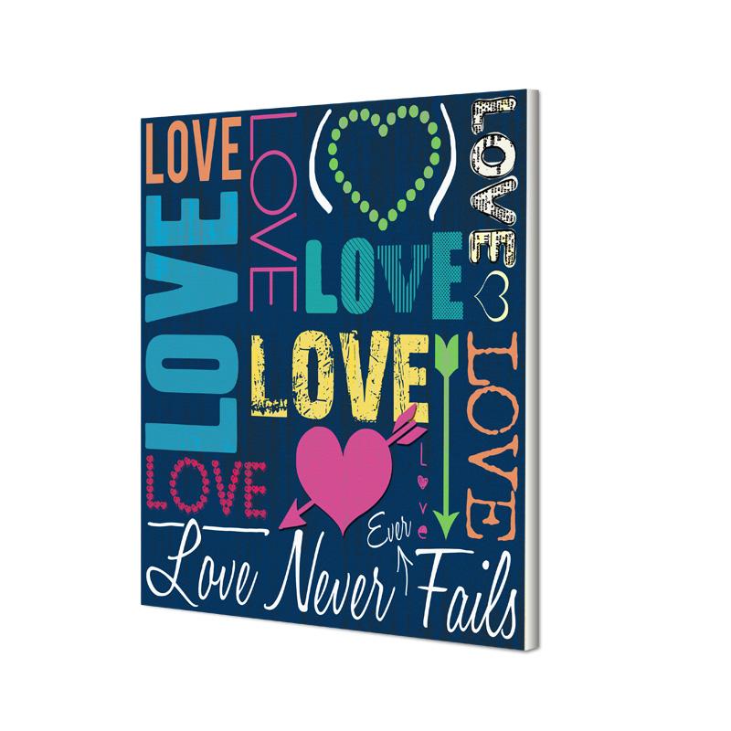 Love Never Fails Canvas Print - SHIPS FREE!