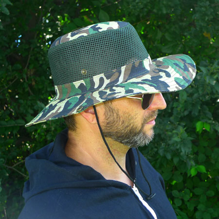 Vented Camo Boonie Hat