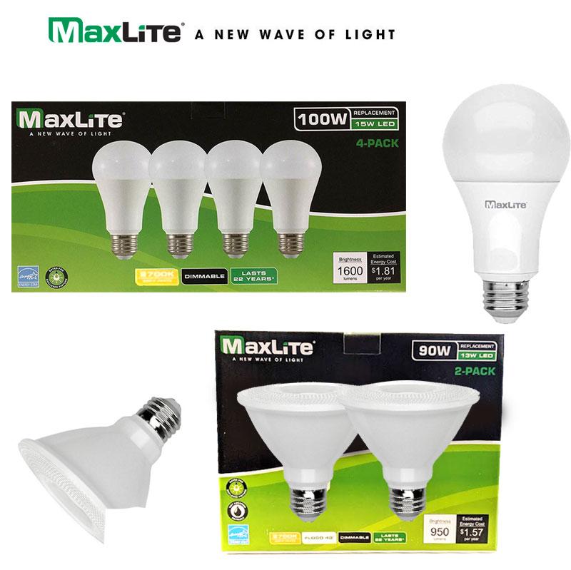 $5 (reg $18) Maxlite Dimmable LED Bulbs