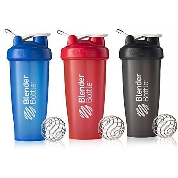 3 PACK of BlenderBottles - You're getting a GREAT deal because they will come in assorted sizes with different logos etc on them. Some of the logos / licenses are very, VERY cool :) - $1.49 shipping, but order 2 or more 3 packs and SHIPPING IS FREE!