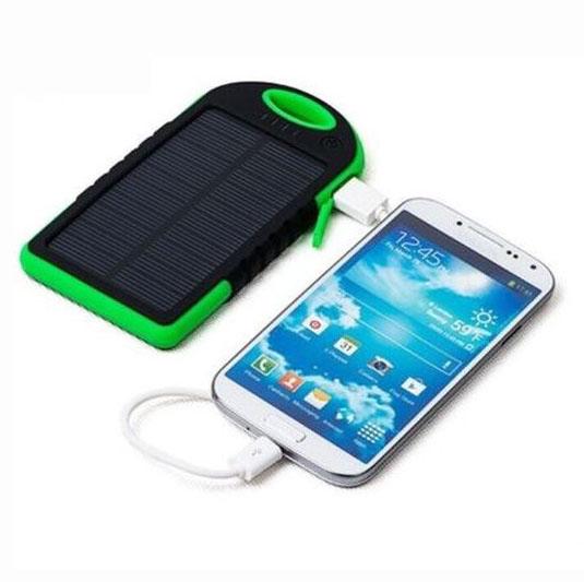 Dual USB Waterproof Solar Cell Phone 5000mAh Power Bank