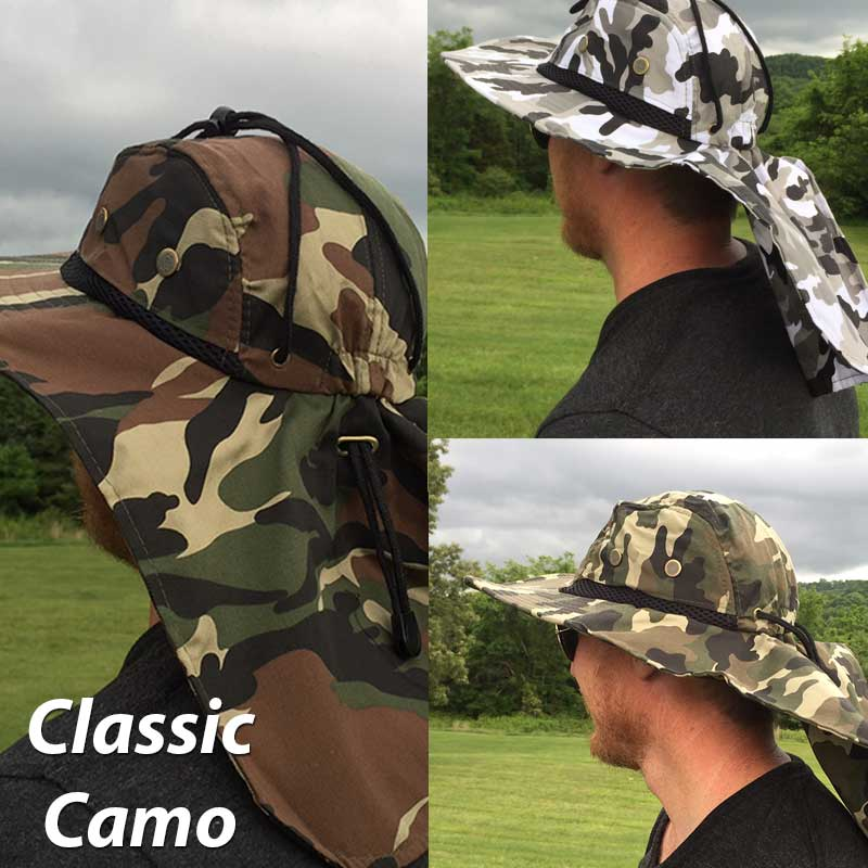 4bc5e04e Camouflage Boonie Hats with Rear Sun Flap - Lots Of Camo Patterns ...