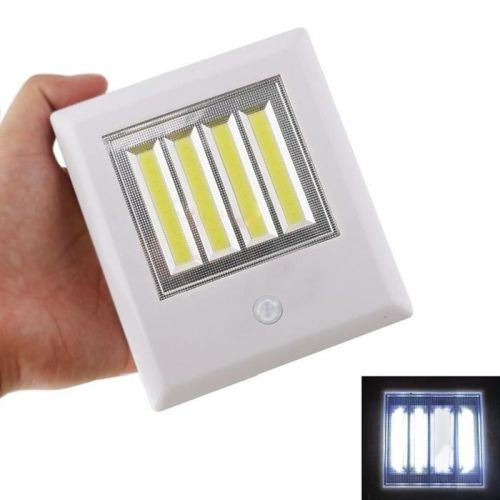 New Wide Style Wireless COB LED Instant Stick Up Or Magnetic MOTION SENSOR Night Light