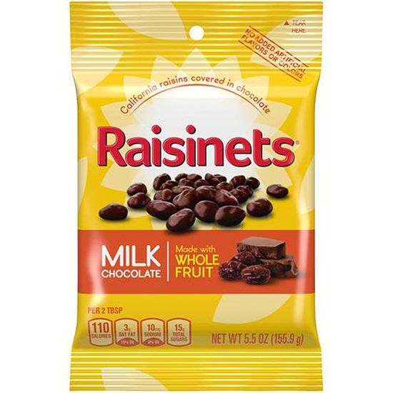 12-Bag Raisinets Milk Chocolate Covered Raisins