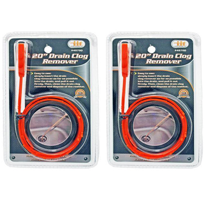 2 Pack 20 inch Drain Clog Remo...