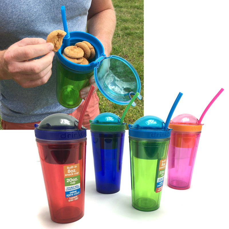 Drink N Snack 20oz Insulated Tumbler With Built In 8oz