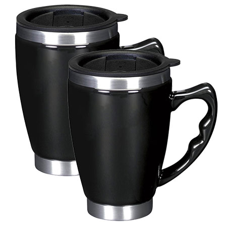 2-Pack Double Walled Stainless Steel Insulated Coffee Mug