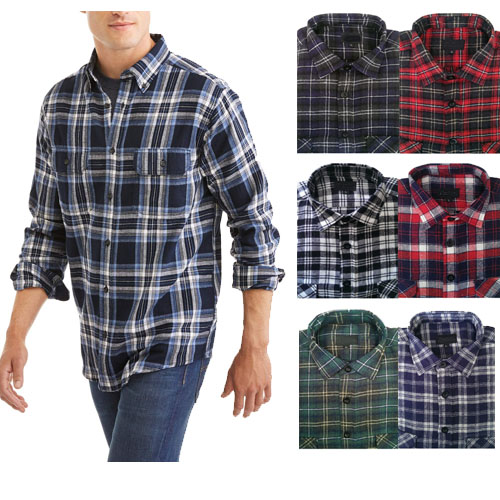 13Deals: 4 Pack of Rugged Point Men's Flannel Shirts - Only $28.49, SHIPS FREE!