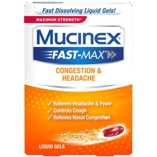 Mucinex Fast-Max Max Strength Congestion & Headache Liquid Gels
