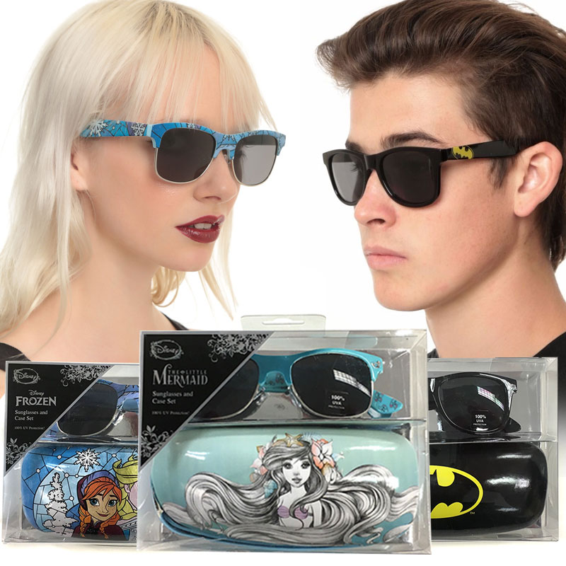 Officially Licensed Sunglasses and Case Gift Sets - Disney\'s The Little Mermaid, Frozen and DC Comics Available
