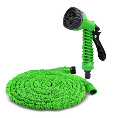 Deals on 50-Foot Expanding Garden Hose with Spray Nozzle