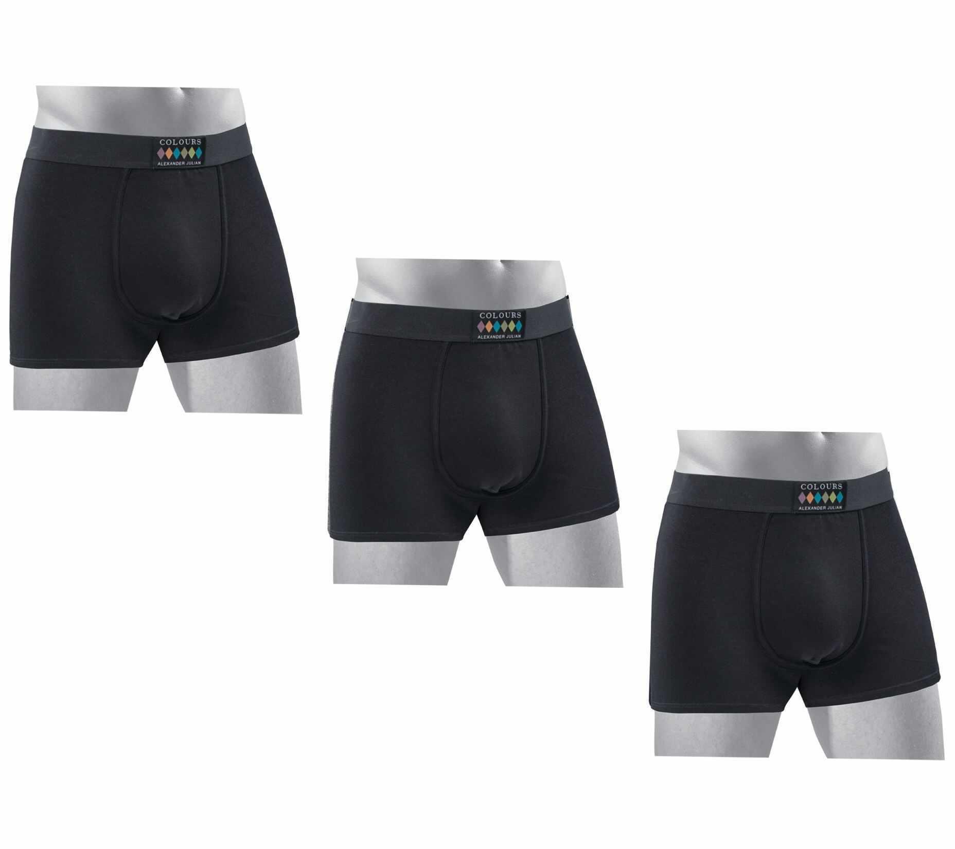 3 PAIRS of Designer Alexander Julian Ultra Soft Cotton Mens Boxer Briefs $14.99 (reg $35)