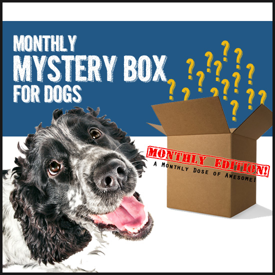 Deluxe Dog Pack - Our most beloved box filled with 6-8 hand-selected treats, toys, and accessories! Ships monthly around the 10th, and rebills every month!