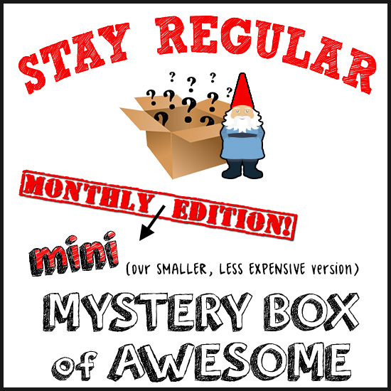 The NEW (mini) Monthly Mystery Box of Awesome