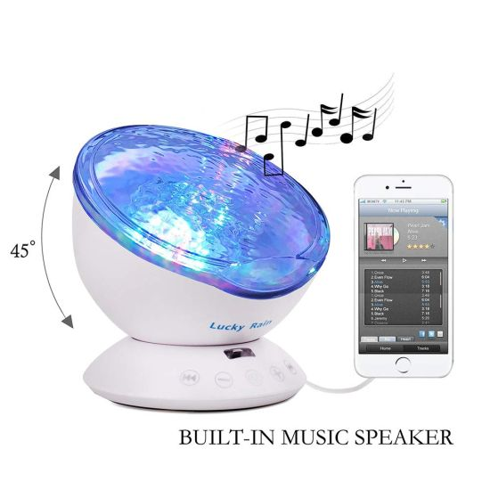 Ocean Wave Night Light Projector With Remote