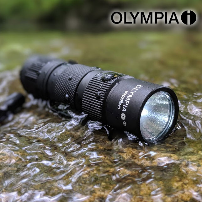 CLEARANCE - Olympia AD180 180-Lumen TRULY WATERPROOF AD Series High-Performance CREE LED Compact Flashlight - Again, not water resistant, waterproof up to 6 feet of submerging! BATTERIES INCLUDED! Currently $30 On Amazon with 5-Star Reviews! Order 2 for just $5.99 each! SHIPS FREE!