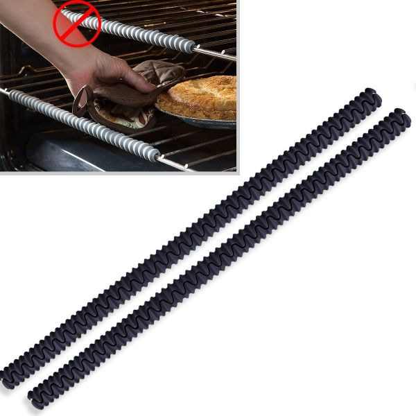 2-Pack Silicone Oven Rack Shields Oven Rack Guards