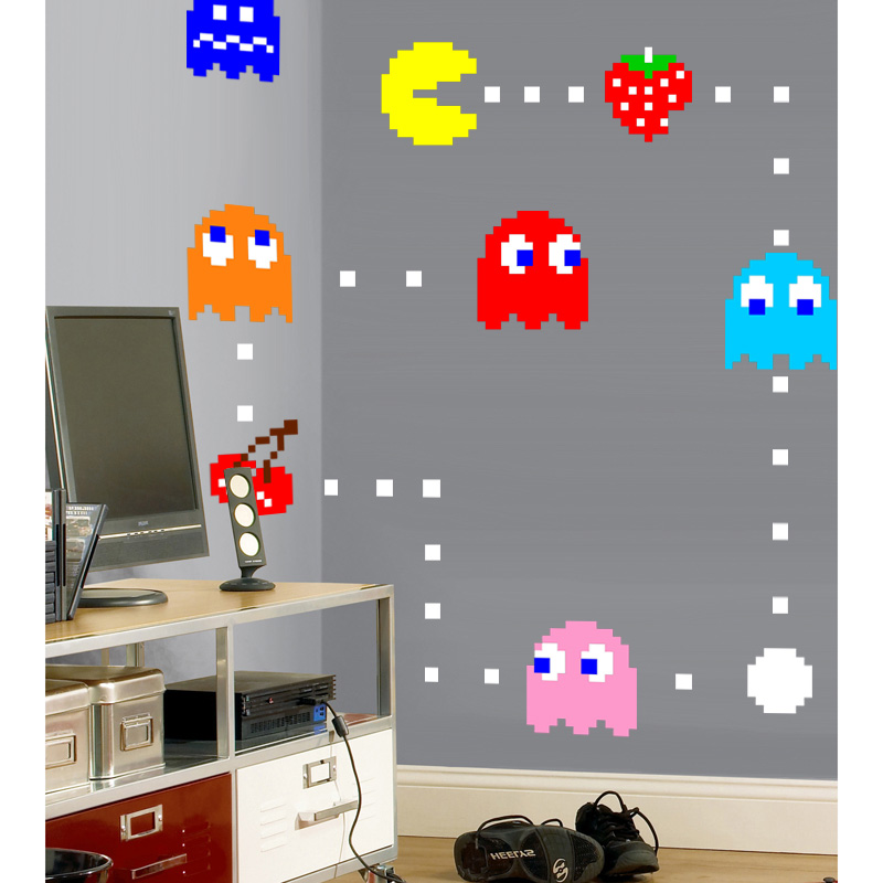 Pacman Re-positionable Wall Clings - SHIPS FREE!