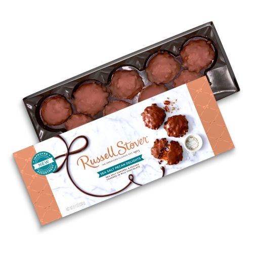 $29.94 (reg $71.70) 6 BOXES of Russell Stover Chocolate Sea Salt Caramel Pecan Delights