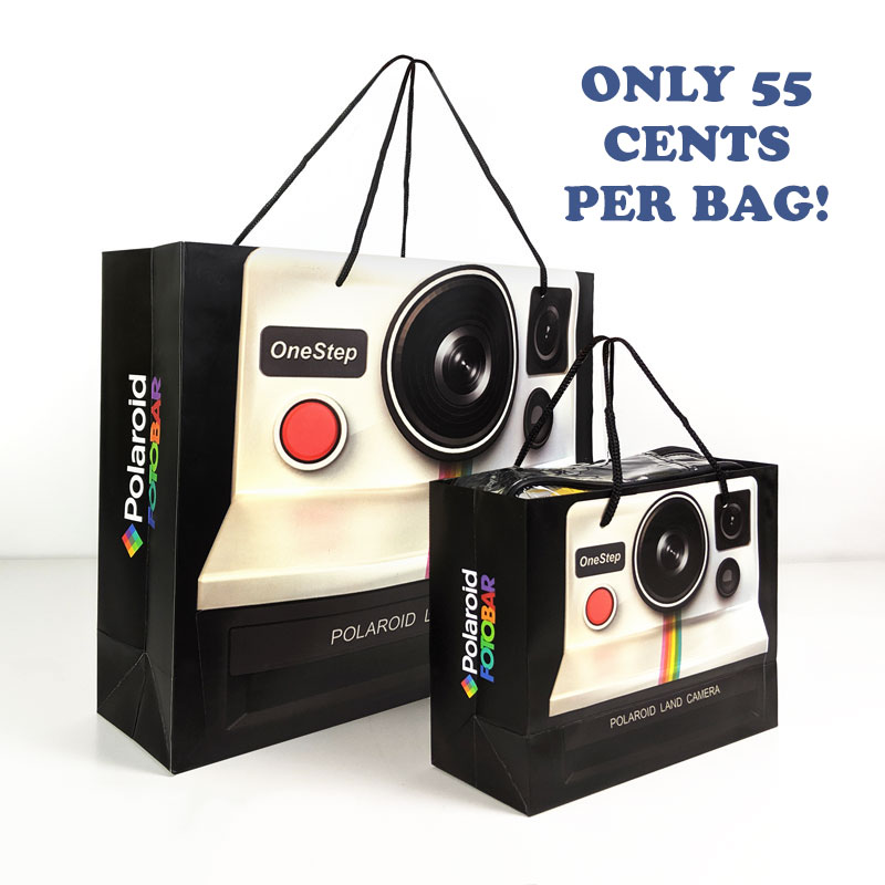 $9.99 (reg $54) Set of 18 Unique Retro Polaroid Camera Design Gift Bags