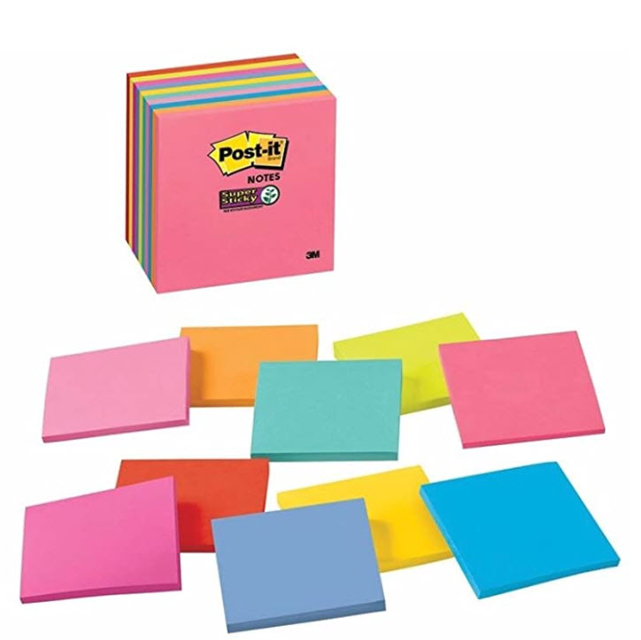 10-Pads 3M Super Sticky Post-it Notes