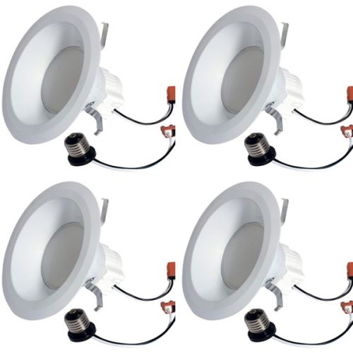 $23.96 (reg $120) 4 PACK of GE Lighting 68579 LED Refresh HD 10-watt -65-watt Replacement, 700-Lumen 6-Inch RS6 Recessed Downlight Kit