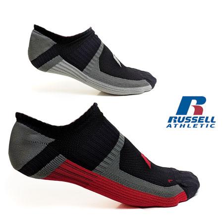 4-Pairs of Men's Russell Sport Performance Socks (White or Black)