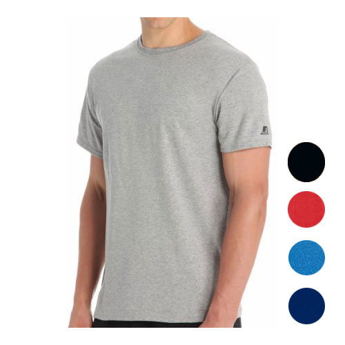 3 Pack of Men's Russell Moisture Wicking Performance Soft T-Shirts