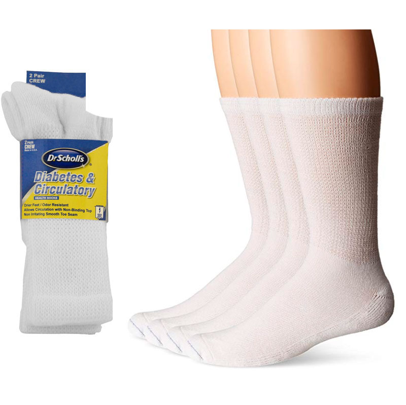 $6.49 (reg $26) 4 Pairs of Men's Dr. Scholl's Diabetic and Circulatory Crew Socks