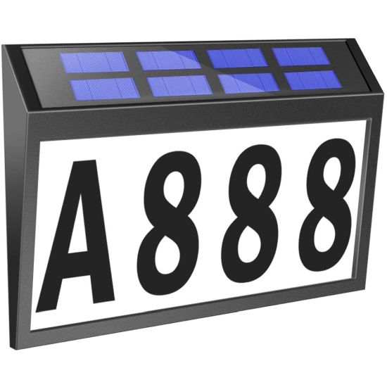 Solar LED Lighted Address Sign...