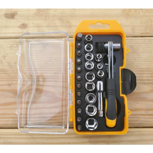 13Deals: INSANE DEAL - 26 Piece Ratcheting Socket / Screwdriver Set With Case - $5.49, limit 1 per customer - SHIPS FREE!