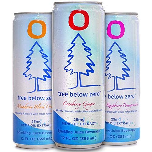 12-Pack Stress Relieving Tree Below Zero Hemp Infused Sparkling Juice