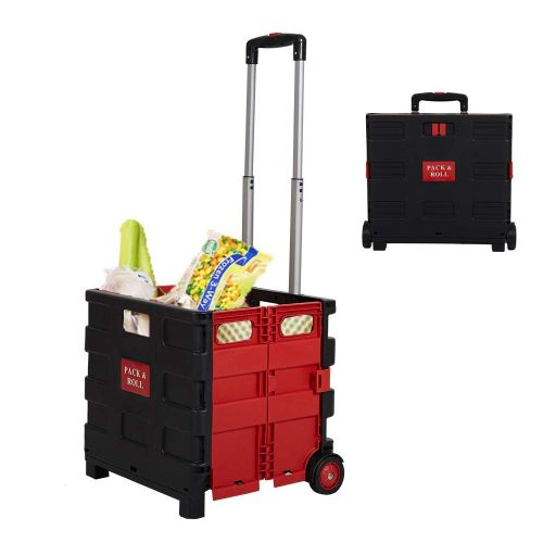$19.99 (reg $40) Pack N' Roll Folding Rolling Trolley Crate