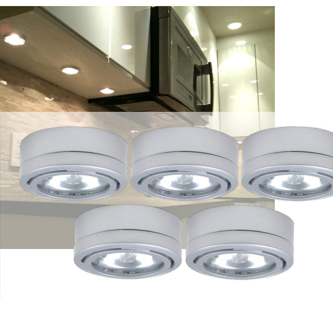 Utilitech 5 Pack 2 6 In Under Cabinet Dimmable Xenon Puck
