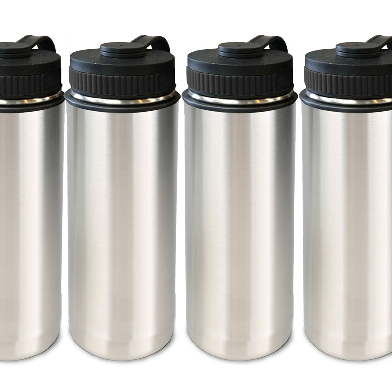 4-Pack Stainless Steel Vacuum Insulated Bottles 18-oz.