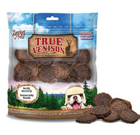 $14.99 (reg $60) SIX BAGS of Loving Pets True Venison - 3 POUNDS of Jerky Rounds