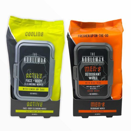 6-Pack Nobleman 3 Energizing Active Packs & 3 Deodorant Packs Wipes