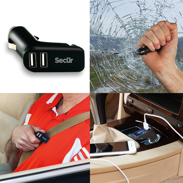 Secur Three-In-One High Speed Dual Port USB Charger